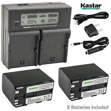 BP945 Battery& LCD Dual Charger for Canon XL-H1, XH G1, XH-A1, XH-G1, GL1, GL-1,