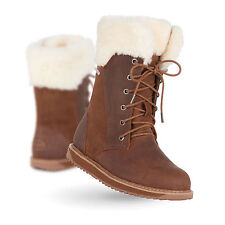 EMU Australia Shoreline Leather Womens Waterproof  Sheepskin Boots in Oak