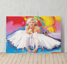 Marilyn Monroe Canvas Oil Painting Print  White Dress Decorative Wall Art