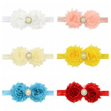Girl New Baby 1Pcs Pearl Flower Headband Hair Band Cute Lace Fitting