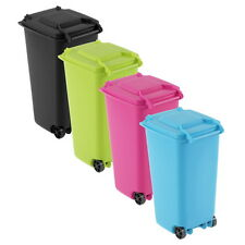 Mini Wheelie Bin Desk Tidy Office Desktop Stationery Organiser Pencil Holder IN