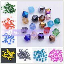 200pcs 4X3mm  Bicone Crystal Glass Faceted Jewelry Crafts Findings Loose Beads