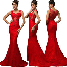 BEADED Long Mermaid Formal PROM Dress Celebrity Party Ball Evening Pageant Gown