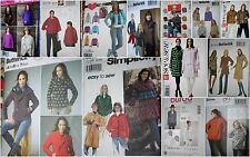 CHOOSE 1 Coat - Jacket sewing PATTERN sz 4-24 some EASY some PLUS SIZE