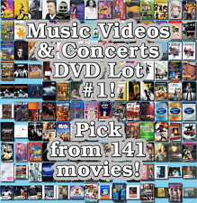 Music Videos & Concerts DVD Lot #1: Pick from 141 Items to Bundle and Save!