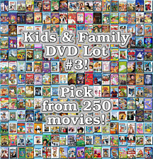 Kids & Family DVD Lot #3: 250 Movies to Pick From! Buy Multiple And Save!