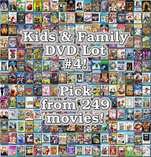 Kids & Family DVD Lot #4: 249 Movies to Pick From! Buy Multiple And Save!