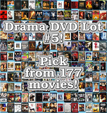 Drama DVD Lot #5: 177 Movies to Pick From! Buy Multiple And Save!