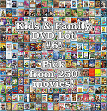 Kids & Family DVD Lot #6: 250 Movies to Pick From! Buy Multiple And Save!