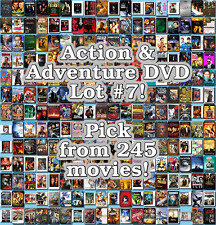 Action & Adventure DVD Lot #7: 245 Movies to Pick From! Buy Multiple And Save!