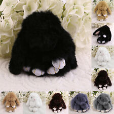 6 inch Cute Fluffy Bunny Rabbit Key Chain Ring For Phone Bag Lucky Pendant UK