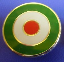 MOD TARGET SCOOTER BADGE - IN ITALIAN ITALIA ITALY COLOURS  12MM 16MM 20MM DIA