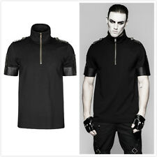 Punk Rave T-459 Mens Steampunk Goth High Collar Military Uniform Sniper T-Shirt