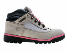Timberland Kids Field Boot Leather/Fabric,Grey/Pink Leather/Fabric