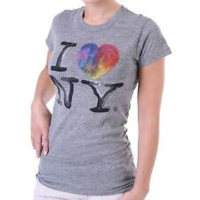 Junk Food T-Shirt Women - I Love NY - Grey
