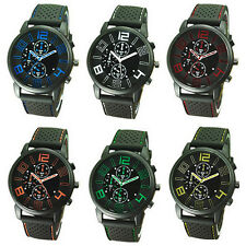Dial New Sports Quartz Casual Silicone Wrist Watch 1Pcs Analog Stainless Steel