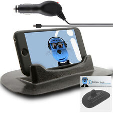 Anti-Slip In Car Holder And Micro USB Charger For Alcatel One Touch 606 Chat