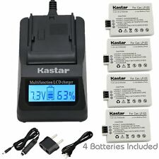 LP-E5 Battery& LCD1 Fast Charger for Canon Rebel XS XSi T1i, EOS 450D 500D 1000D