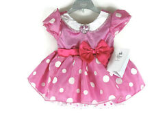 Disney Store Minnie Mouse Dress PINK Minnie Mouse Baby Costume Outfit 3-6 mo NEW