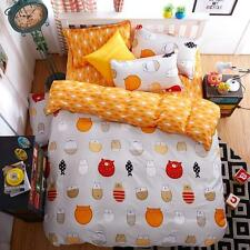 Single Double Queen King Size Bed Set Pillowcase Quilt Duvet Cover FitUS Cats