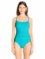 Anne Cole Women's Shirred Maillot Solid One-Piece Swimsuit - Choose SZ/Color