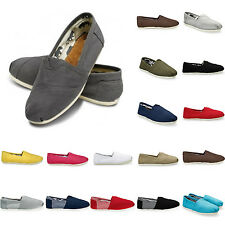 GUT New Women Men's Shoes Slip-on Casual Flats Solid Canvas Leisure Loafer Shoes