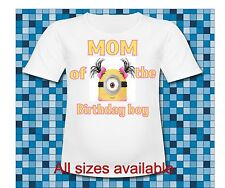 Dad of the Birthday Boy Minion T Shirt Despicable me Minion Face T Shirt