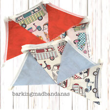 Cotton Bunting VW Campervan Bunting Marquee Bunting fabric VDub Gifts Cars UK