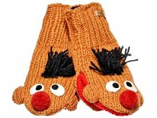 Knitwits Little Kids' Sesame Street Knit Wool Mittens Cookie Monster or Ernie