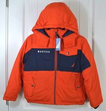 NWT BOYS YOUTH NAUTICA PUFFER OUTERWEAR JACKET WINTER SNOW COAT SZ S-8 L14-16