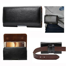 Universal Leather Horizontal Wallet Belt Pouch Cover Case For LG Various Models