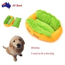 Puppy Hot Dog Mat Pet Bed Pad Cat Cushion Washable Warm Soft Cotton Kennel Nest