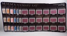 Mary Kay Mineral Eye Color Card Sheet of 18 Travel Size Samples YOU CHOOSE COLOR