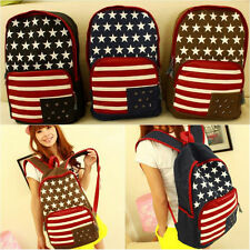 Hot Women Men Canvas Backpack School Rucksack Satchel Shoulder Bag Travel 42a