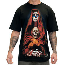 Men's Sullen Acuna Badge T-Shirt Day of the Dead Mary Sugar Skull Tattoo Art