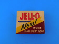 Vintage 1960s Black Cherry Jell-O Jello  Full  Box Never Opened