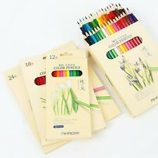 Stationery Office School Supplies - 36 Color Pencils Drawing Crayon Set Nature
