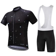 Logas Mens Cycling Jersey Bib Shorts Set Bicycle Bike Short Sleeve Jersey