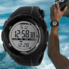 Fashion Men Waterproof LED Silicone Band Digital Date Sports Wrist Watch New