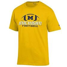 University of Michigan Wolverines Football T shirt NCAA Yellow