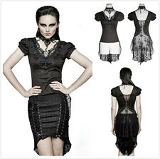 Punk Rave T-454 Womens Gothic Punk Visual Kei Sexy Lace Swallow Tail Top Shirt