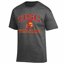 USC Trojans NCAA College T shirt made by Champion, Grey