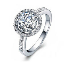 925 Sterling Silver Cubic Zirconia Wedding Engagement Ring Size 6-10 Worthy