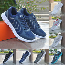 Men's Mesh Sports Casual Athletic Shoes Running Flat Trainers Lace Up Sneakers