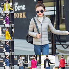 Fashion Womens Warm Cotton Jacket Autumn Winter Overcoat Parka Thin Slim Coat w8