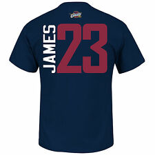 Lebron James Majestic Cleveland Cavaliers Name And Number T-Shirt (Navy)