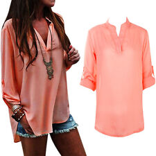 New Sexy Womens Lady Loose Long Sleeve Casual Blouse T-Shirt Tops Fashion Blouse