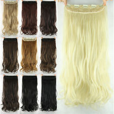 """New Women Girls Clip in on Hair extensions Synthetic Curly Long 23"""" 60cm Hot"""