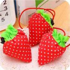 1/5/10/ Lot Foldable Strawberry Reusable&Recycle Carrier Tote Bag Shopping Bags