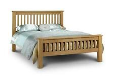 Amsterdam Oak Finish Bed Frame -  4FT6/5FT/6FT With/Without Mattress